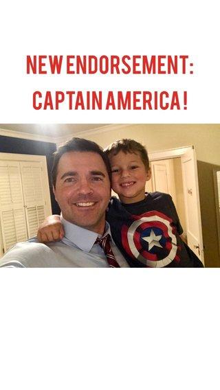New ENDORSEMENT: Captain America !