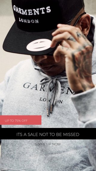ITS A SALE NOT TO BE MISSED SWIPE UP NOW UP TO 75% OFF
