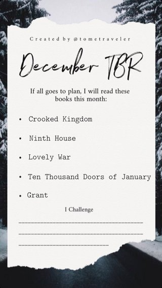 Crooked Kingdom Ninth House Lovely War Ten Thousand Doors of January Grant