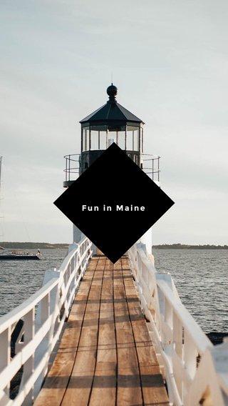 Fun in Maine