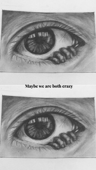 Maybe we are both crazy