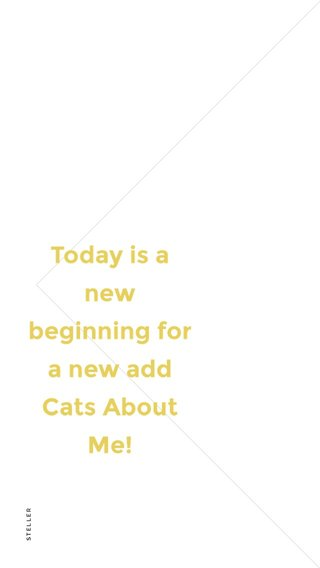 Today is a new beginning for a new add Cats About Me!