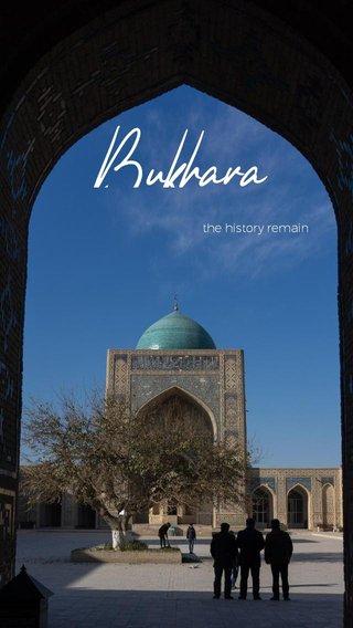 Bukhara the history remain