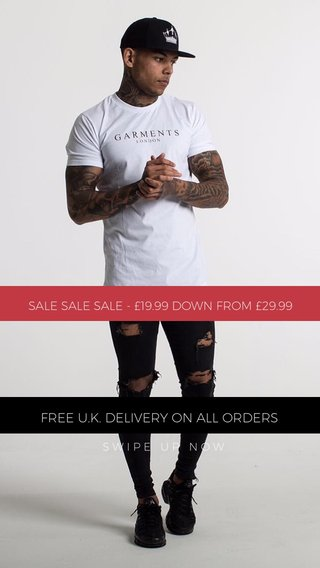 FREE U.K. DELIVERY ON ALL ORDERS SALE SALE SALE - £19.99 DOWN FROM £29.99 SWIPE UP NOW