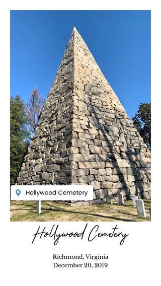 Hollywood Cemetery Richmond, Virginia December 20, 2019