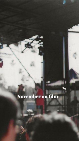 November on film