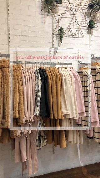50% off coats jackets & cardis
