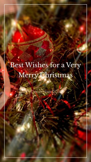 Best Wishes for a Very Merry Christmas -December 2019