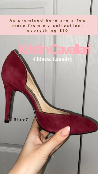 Kristin Cavallari Chinese Laundry As promised here are a few more from my collection: everything $10 Size7