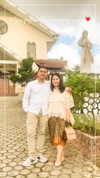Happy first wedding anniversary sayang❤️