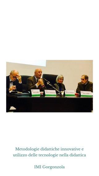 Metodologie didattiche innovative e utilizzo delle tecnologie nella didattica IMI Gorgonzola