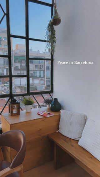 Peace in Barcelona
