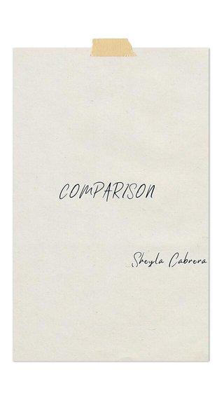 COMPARISON Sheyla Cabrera