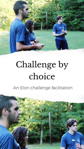 Challenge by choice An Elon challenge facilitation