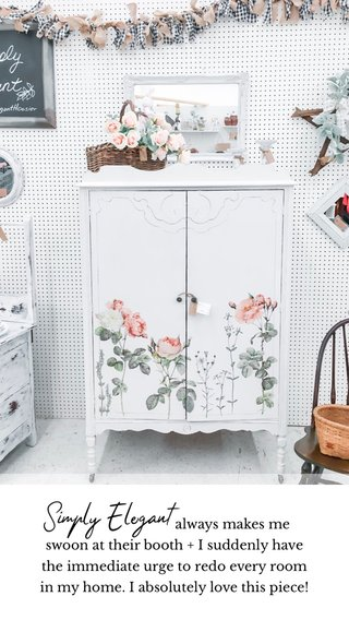 Simply Elegant always makes me swoon at their booth + I suddenly have the immediate urge to redo every room in my home. I absolutely love this piece!