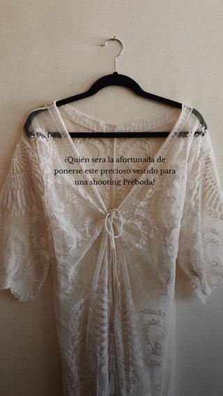 ¿Quién sera la afortunada de ponerse este precioso vestido para una shooting Preboda?