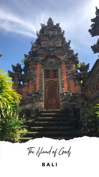 The Island of Gods BALI