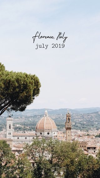 Florence, Italy july 2019