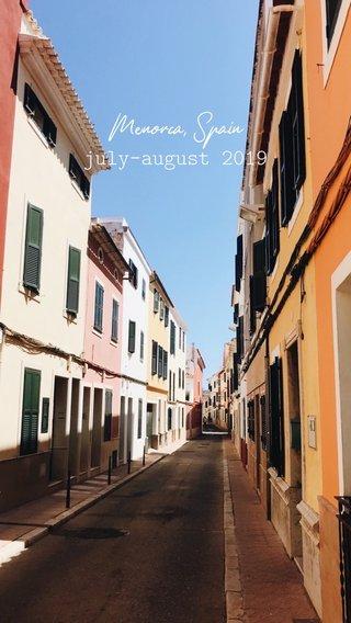 Menorca, Spain july-august 2019