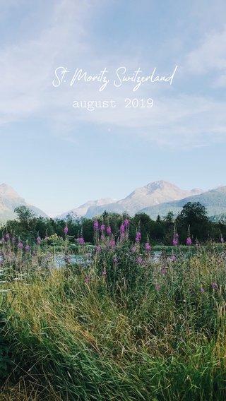 St. Moritz, Switzerland august 2019