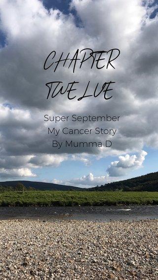 CHAPTER TWELVE Super September My Cancer Story By Mumma D