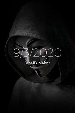 9/3/2020 Dibalik Makna