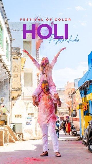 HOLI Pushkar,India FESTIVAL OF COLOR