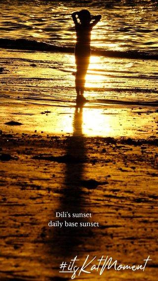 #it'sKatMoment Dili's sunset daily base sunset