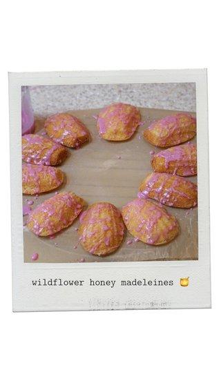 wildflower honey madeleines 🍯