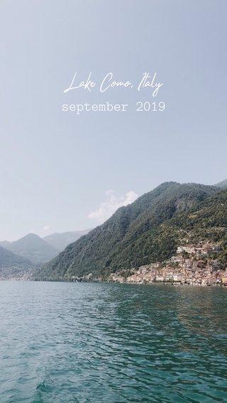 Lake Como, Italy september 2019