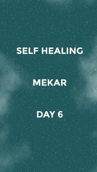 SELF HEALING MEKAR DAY 6