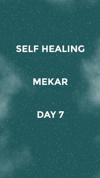 SELF HEALING MEKAR DAY 7