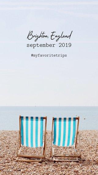 Brighton, England september 2019 #myfavoritetrips