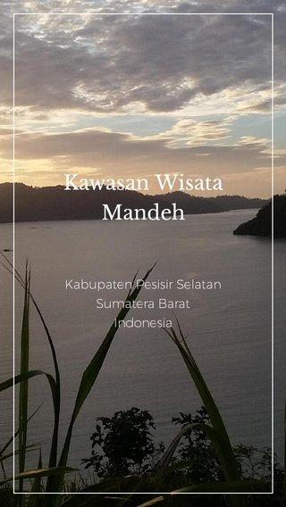 Kawasan Wisata Mandeh Kabupaten Pesisir Selatan Sumatera Barat Indonesia