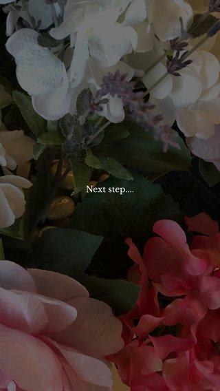 Next step....
