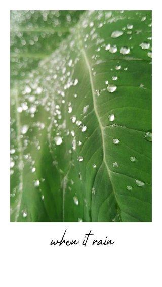 when it rain