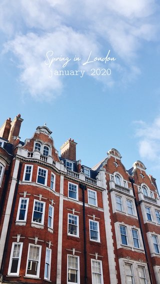 Spring in London january 2020