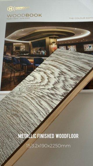 Metallic finished Woodfloor 15/3.2x190x2250mm
