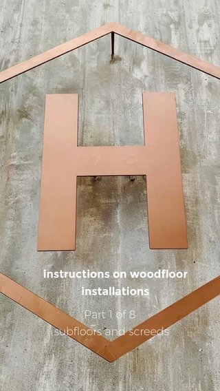 Part 1 of 8 subfloors and screeds instructions on woodfloor installations