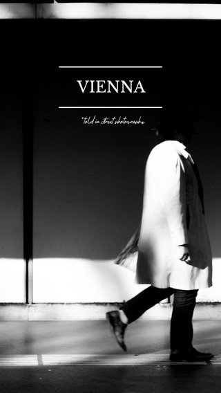 VIENNA *told in street photography