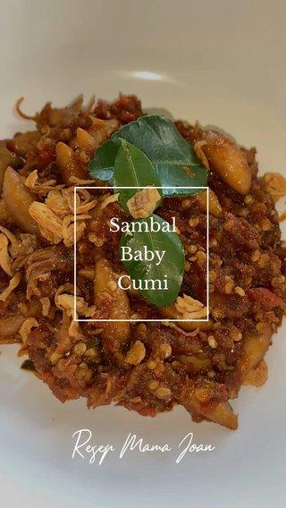 Resep Mama Joan Sambal Baby Cumi