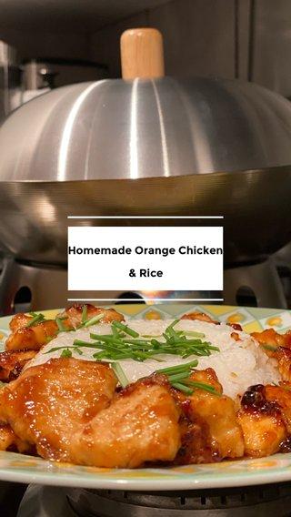 Homemade Orange Chicken & Rice & Rice