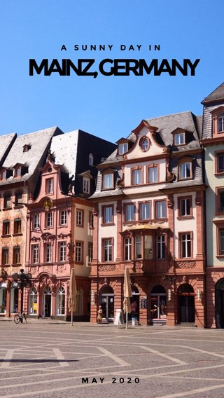 MAINZ, GERMANY A SUNNY DAY IN MAY 2020 #germany #europe #city