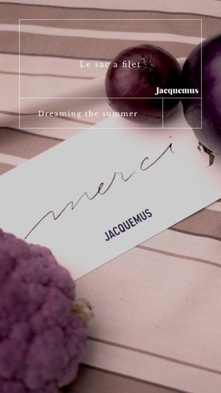 Jacquemus Le sac a filet Dreaming the summer