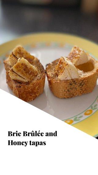 Brie Brûlée and Honey tapas