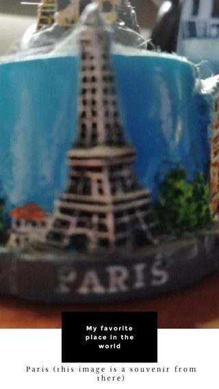 My favorite place in the world Paris (this image is a souvenir from there)