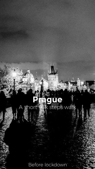 Prague A short 96k steps walk Before lockdown