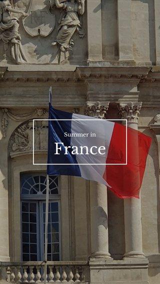 France Summer in