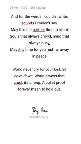 This time sebuah puisi