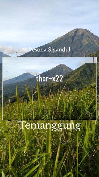 Temanggung thor-x22 Pesona Sigandul